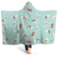 Super Soft Warm Hoodie Cape Wrap Blanket camping Anti-Pilling Flannel Wearable Hooded Throw Blanket,Anti-pilling flannel.